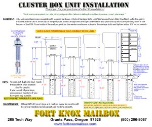 Cluster Box Unit Installation